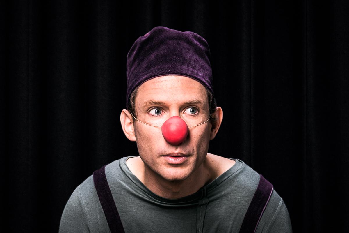 Je suis suis là portrait du clown